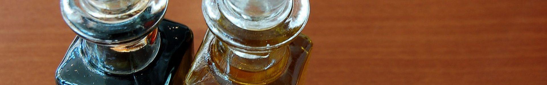 oil, vinegar, table
