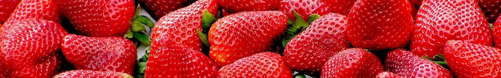 strawberries, red, fruit