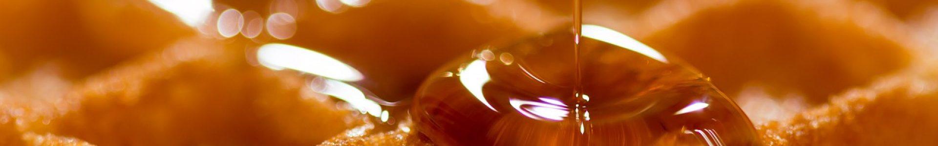 waffle, belgian, syrup